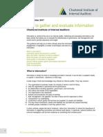 Summary of the internal Audit Activity