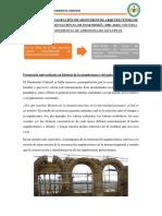 Resumen Incorparación Del Curso de Restauracion de Monumentos en La Uni