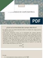 1.1.6 Intensidad de Campo Eléctrico.