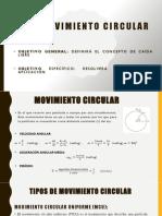 1.1.6 Movimiento Circular