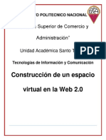 Construcción de un espacio virtual en la Web 2.0