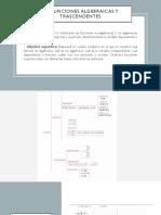 2.6 Funciones Algebraicas y Trascendentes