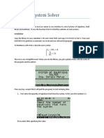 Equation System Solver
