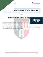 Feg 2 Solved Assignment 2018 19