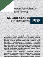 Manajemen Pemeliharaan Sapi Potong(1)