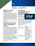 Skilled Visa ENews - July 2019