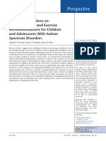 ASD Exercise Recommendation
