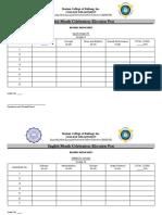 English Month Adjudication and Tally Sheets