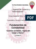 Cuentas Contables, Reglas Del Cargo y Abono