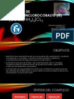 Cloruro de Pentaaminclorocobalto (III) (1)
