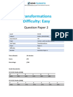 E7.2 Transformations 2A Topic Booklet 2 CIE IGCSE Maths