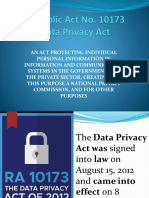Salient Provsions of the Data Privacy Act of 2012