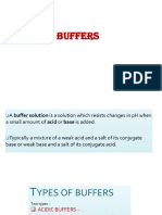 Buffer and isotonic solution