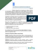 CLASIFICACION DISPOSITIVOS MEDICOS SEGUN EL RIESGO