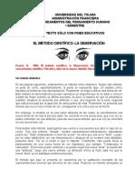 Documento de Lectura. Tut. 3. Objetividad y Subjetividad