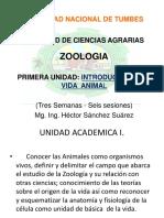 1 Zoologia Primera Unidad Intoduccion a La Vida Animal