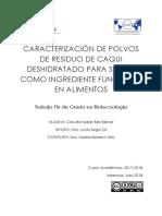 Bas - Caracterización de Polvos de Residuo de Caqui Deshidratado Para Su Uso Como Ingrediente Fun...