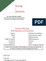 2- Factors Affecting Milk Quality and Quantity of Milk