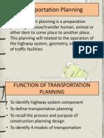 Transportation Planning Models