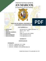 Informe de Quimica  N°2 Organica-A-II
