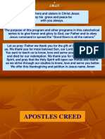New Apostles Creed PowerPoint