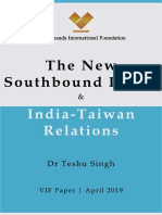 New Policy of india taiwan