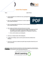 CBI Lesson Plan Template