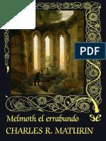 Melmoth El Errabundo - Charles Robert Maturin Valdemar