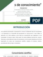 """Diapositivas de """"Tipos de Conocimiento"""""""