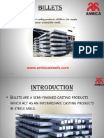 The Leading Producer & Supplier of Stainless Steel Billets in India