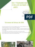 Terremotos y Tsunamis Mas Importantes en Los Ultimos