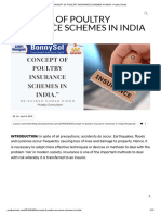 Concept of Poultry Insurance Schemes in India - Poultry Shorts