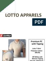 Lotto T-shirts Presentation - Offiworld