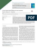 A novel chitosan based adsorbent for boron separation
