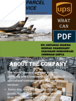 ppt  on ups logistics