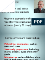 Lecture 3 Estrous Cycle and Estrus Signs in Domestic Animals