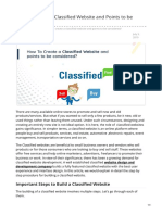 How to Create a Classified Website and Points to Be Considered