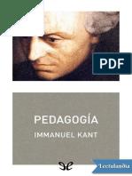 Immanuel Kant - Pedagogia