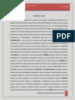 Edy Vasquez Contrato de Auditoria Fideicomiso