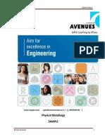 Career Avenues Physical Metallurgy
