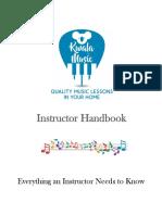 Instructor Handbook Kwala Music
