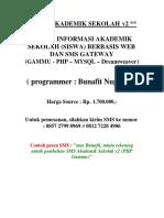SMS Sekolah v2 - Sistem Informasi Akademik Sekolah Berbasis SMS Gateway Dengan Gammu PHP MySQL Dr