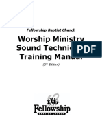 Worship Ministry Training Manual