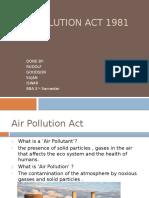 Air Pollution Act 1981