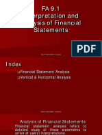 FA 9.1 Interpretation and Analysis of Financial Statements