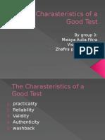 Characteristics of Good Assessment