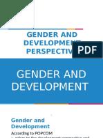 Gender and Development Perspective