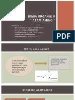 Ppt Asam Amino Kimia Organik II