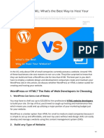 WordPress vs HTML Whats the Best Way to Host Your Website