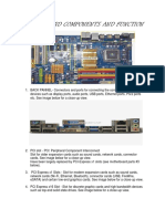 Motherboard Components and Function